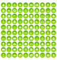 100 tennis icons set green circle vector image vector image