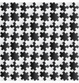 3d jigsaw tile seamless pattern blackampwhite 002 vector image vector image