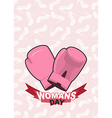 8 March International Womens Day Pink boxing vector image