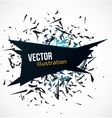Abstract black banner with blue light explosion of vector image vector image