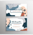 abstract modern business card brush texture vector image vector image