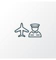 airport worker icon line symbol premium quality vector image