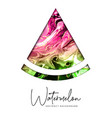 artistic watermelon triangle slice silhouette