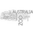 australia zoo text word cloud concept vector image vector image