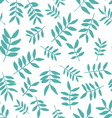 Background with branch silhouettes Seamless vector image vector image