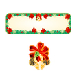 Banner Christmas Spruce lucky symbols vector image