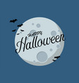 bats flying over moon vector image vector image