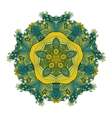 Beautiful Deco Colored Contour Star vector image vector image