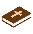Bible isometric 3d icon vector image vector image
