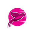 Bird pink sunrise logo
