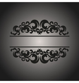 Black vintage pattern on gray background vector image