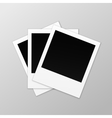 Blank Retro Photo Frames Close up vector image vector image