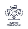business consultation line icon concept business vector image vector image