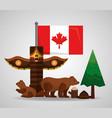 canada country symbols vector image vector image