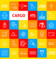 cargo line icons vector image vector image