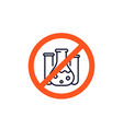 chemical free icon no preservatives sign vector image vector image