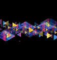 colorful neon retro triangles tech abstract vector image vector image