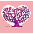 concept pink love tree vector image