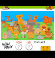 counting dogs and cats educational game for kids vector image vector image