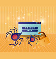 cyber security with webpage template vector image vector image