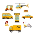 Different types of taxi transport Cars vector image vector image