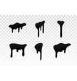 drip paint set ink stain drop melt liquid vector image vector image