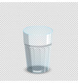 empty drinking glass isolated on transparent vector image vector image