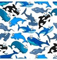 Fish cartoon seamless pattern wallpaper vector image