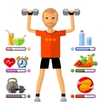 fitness gym logo design template sport vector image
