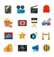 Flat Cinema Decorative Icons Set vector image vector image