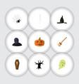 flat icon celebrate set of gourd skeleton casket vector image vector image