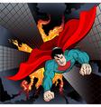 Flying Superhero vector image vector image