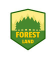 forest land logo flat style vector image vector image