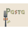fork with pasta vector image
