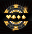 gold chip and suit vector image vector image
