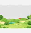 golf background green course with hole vector image vector image
