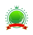 Golfing championship icon or winners banner vector image