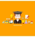 Graduate with Education icon vector image vector image