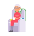 Granny portrait vector image