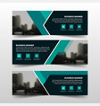 green triangle corporate business banner template vector image vector image