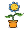 Happy flower cartoon