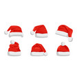 hat santa claus closeup vector image