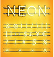 high detailed neon character set vector image vector image