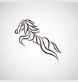 horse logo icon design vector image vector image
