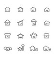 house and home icon set living construction and vector image