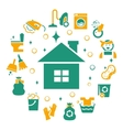 Household cleaning icons set vector image
