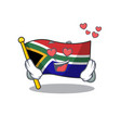 in love flag south africa isolated with mascot vector image vector image