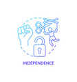 independence and autonomy concept icon