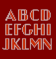 Knitted alphabet vector image vector image