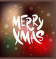 lettering phrase merry xmas for posters vector image vector image